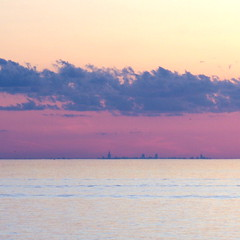 Chicago skyline and Lake Michigan