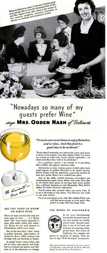 Wine Mrs Ogden Nash Life Oct 23 1939