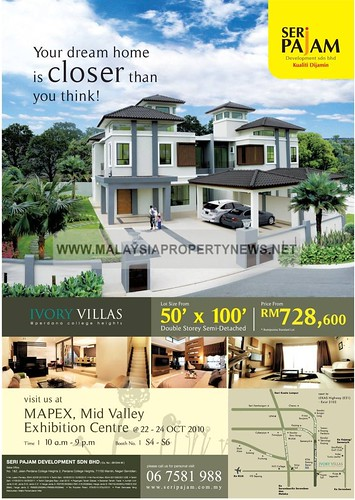 Seri Pajam, Ivory Villas Double Storey Semi-Detached homes for sale.