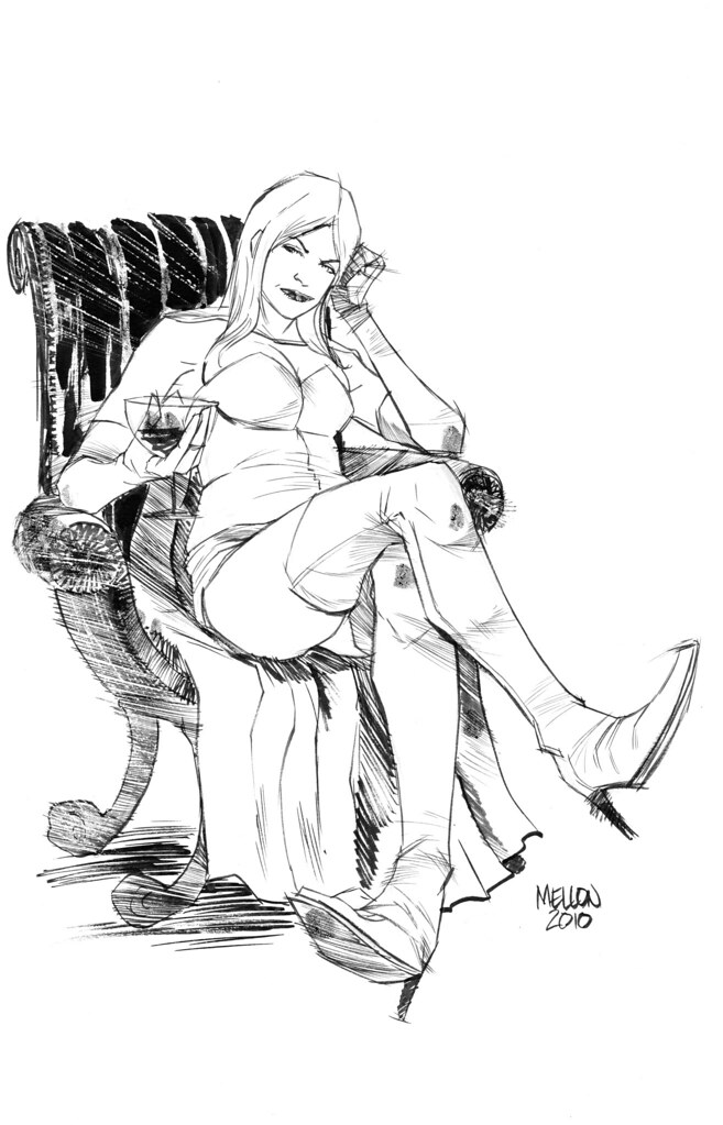 Emma Frost by Kevin Mellon