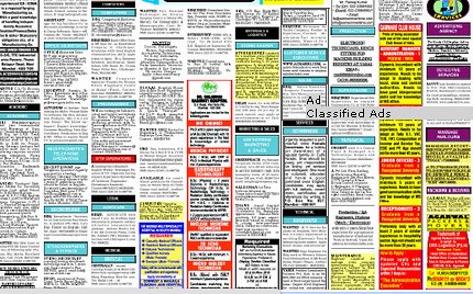 Online Recruitment Classified Booking for Newspapers