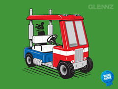 Minimus Prime T-shirt (Glennz Tees) Tags: art nerd fashion illustration golf prime design funny geek transformer drawing humor cartoon tshirt adobe optimus illustrator draw cart popculture tee vector ai apparel glenz minimus glennjones glenjones glennz gleenz glennnz