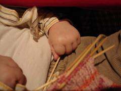 Gabe's little hands