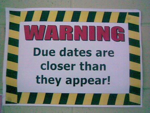070603 Due dates sign