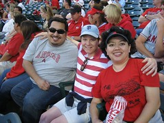 Three amigos at the Angels game. (5/9/07)