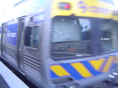 Melbourne Train Zooming Past