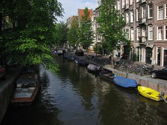 Great weather, on the canals (mrisney) Tags: amsterdam elena jordaan annefrankhouse
