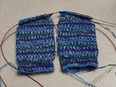 Forever Jacquard Socks on 2 Circs