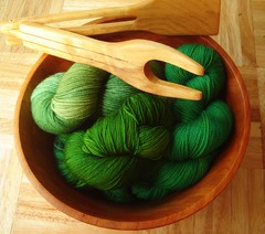 sock yarn salad (flint knits) Tags: green catchycolors knitting sock knit merino yarn cashmere sundara knittery wollmeise fiberlicious