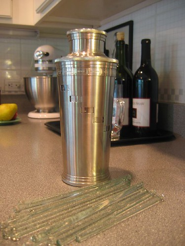 Cocktail Shaker with Recipes