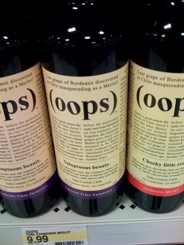 (oops) wine