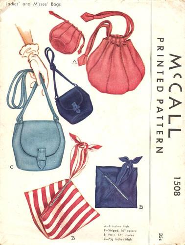 Vintage bags patterns, 1949