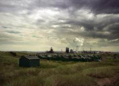 Huts and Smoke (Bobshaw) Tags: mouth fishing industrial hole gare smoke south huts tees paddys