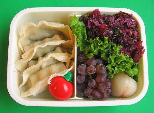 Purple kale lunch