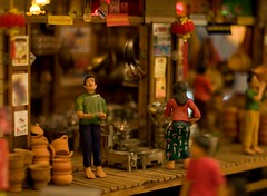 Scale Model Thai Village (people) (athanawat) Tags: 20d scale canon thailand model bangkok ef50mmf14