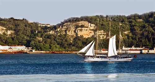 Portuguese Sailing Vessel near the Ponte 25 Abril
