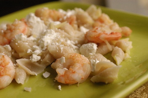 pasta with potatoes and shrimp