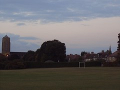 Beckenham churches from the park