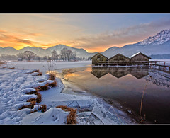 Winter am Kochelsee (Gerald W. Photography) Tags: winter light lake mountains alps nature germany landscape bayern deutschland bavaria licht nikon natur oberbayern berge alpen 2010 countyside d90 lichtstrahlen