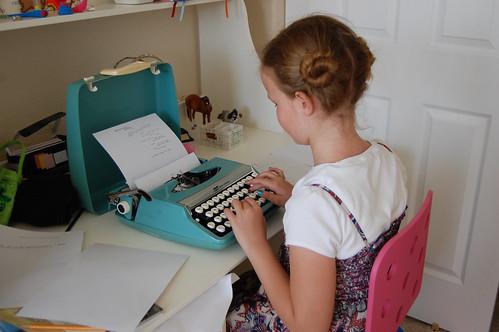 birthday typewriter