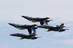 Blue Angels (John. Romero) Tags: blue house usmc dc washington team andrews open force military air united jets flight navy blues maryland formation airshow demonstration angels hornet states f18 base usn joint services aerobatic fa18 demonstaration