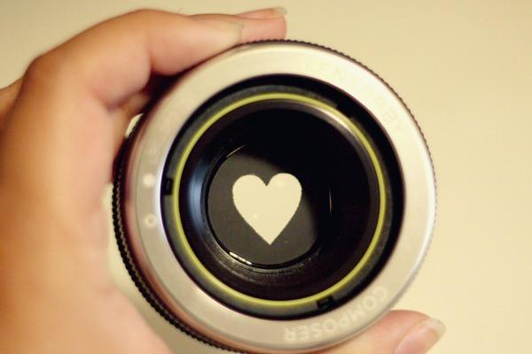 Lensbaby Heart Bokeh Detail