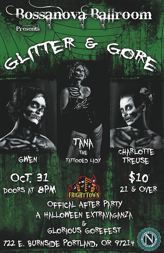 October 31: Glitter & Gore Halloween Party & Burlesque Show @ Bossanova Ballroom