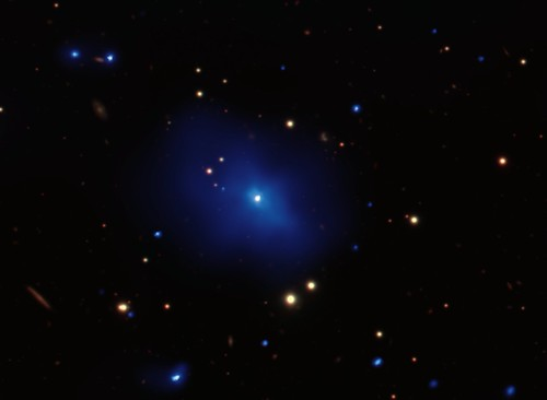 Galaxy Cluster, Quasar 3C 186 (NASA, Chandra, 10/26/10)