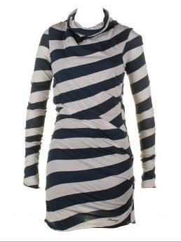 Firetrap Embers midnight blue stripe dress