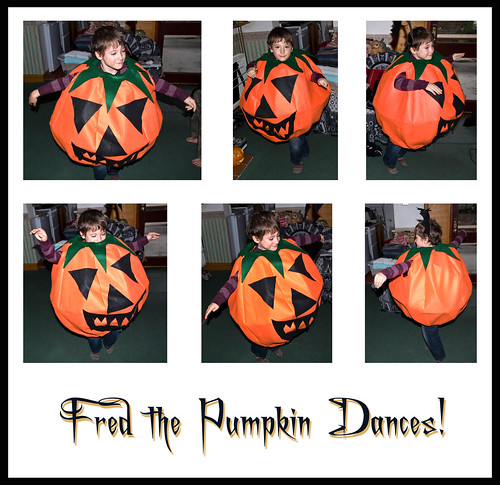 Fred the Pumpkin Dances - Copyright R.Weal 2010