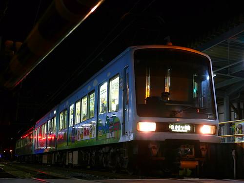 江ノ電2003F+1002F稲村ヶ崎行き最終電車@長谷