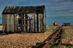 Falling Apart at the Seams! (Steeve Lane (Please Read Profile)) Tags: abandoned neglect coast kent rust decay shingle hut rails dungeness coastline hdr wwh romneymarsh digitalcameraclub fishermanshut
