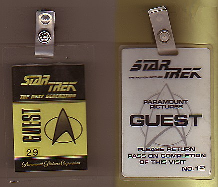 Star Trek set passes