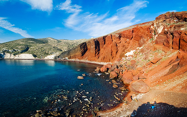 Red Beach, Blue Woman