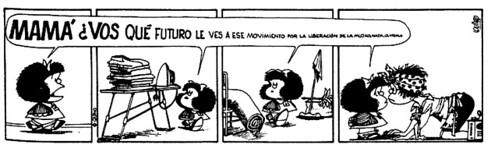 Mafalda y su mamá
