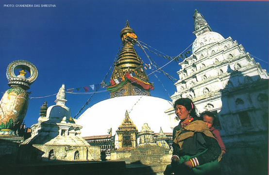 Swoyambhunath Stupa,  Kathmandu by Gyanendra Das Shrestha
