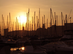 Sunset, Marseille Harbour, Provence, France (**Anik Messier**) Tags: provence imagepoetry mywinner imageposie portdemarseille francesunsetcoucherdesoleil