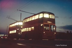 Teesside trolleybuses at night (Lady Wulfrun) Tags: bus classic buses electric night lost reading lights shot trolley traction charles running clean h wires sunbeam overhead roe span trolleys trolleybus booms vrd gaj