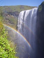 Skógafoss (Islanda) (gatomato) Tags: river rainbow agua olympus acqua arcobaleno viaggi skógafoss cascate islanda fiumi avventurenelmondo