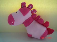 eski çoraptan oyuncak dinazor