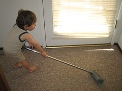 cleaning (by egg on stilts)