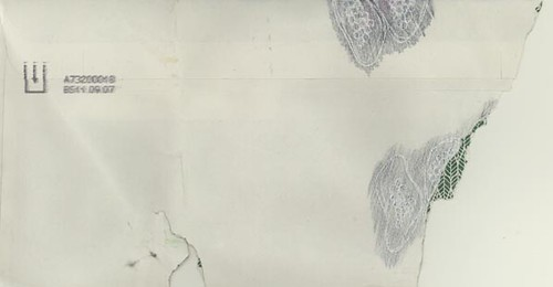 Kirsty Hall - Diary Project envelope from Sept 10th, drawing on damaged envelope