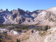 Twin Lakes with Snowyside Peak beyond