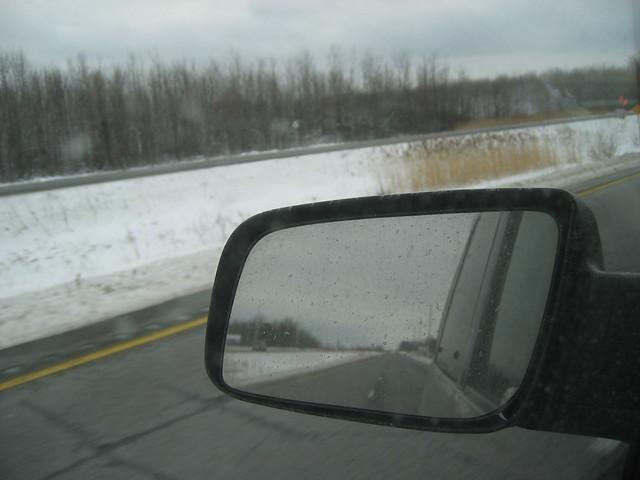 winter ontario reflection chevrolet grey mirror highway astro chevy 401