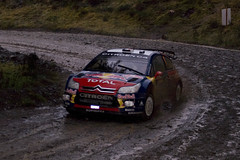 WRC SS6 Myherin 051208 (rob  68) Tags: world park car wales french 1 1st 5 daniel c rally group citroen champion 8 monaco class number wrc elena gb co finished driver times total 78 become registration sebastien c4 loeb wrt 738 ss6 051208 a egz myherin