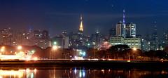 Ibirapuera a noite (Brivilati) Tags: cidade azul brasil lago avenida nikon monumento flash bonito centro cu victor pont