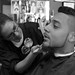 Manuel Jones said he dislikes getting his hair cut by anyone, except for Angela Taliaferro at Pennington's Barber Shop in Kent, Ohio.