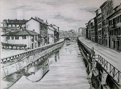 DisegnoPaesaggio _ 2003 (LaBene*) Tags: matita disegno paesaggio biancoenero amano prospettiva sfumature dalvero