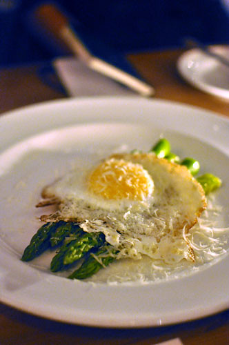 Asparagus and Duck Eggs