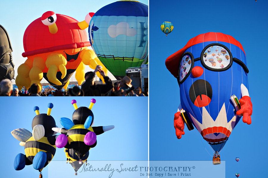balloon fiesta collage